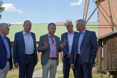 Foto zur Meldung: Minister Thümler zu Besuch