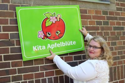 "Foto zur Meldung: Kita Saßleben heißt jetzt ""Apfelblüte"""