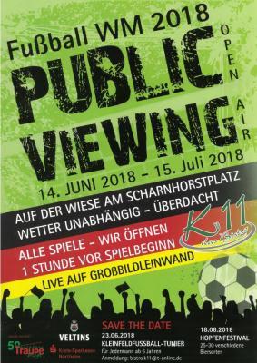 Vorschaubild zur Meldung: WM 2018 - Public Viewing auf dem Scharnhorstplatz