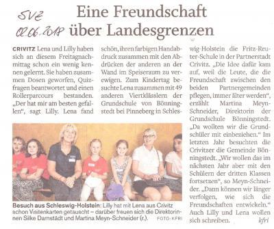 Foto zur Meldung: Kindertag mit Besuch aus Bönningstedt