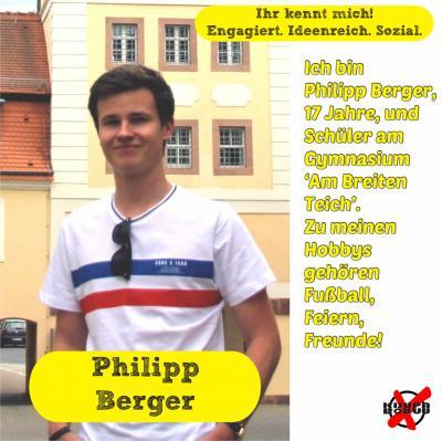 Foto zur Meldung: Unsere Kandidatinnen und Kandidaten - Berger, Philipp