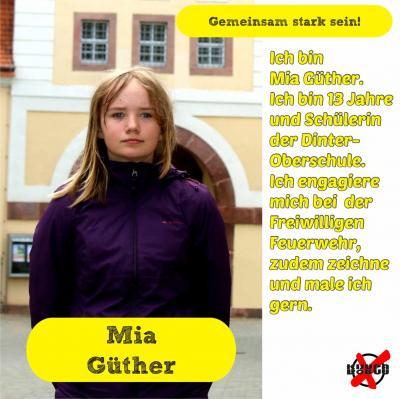 Foto zur Meldung: Unsere Kandidatinnen und Kandidaten - Güther, Mia