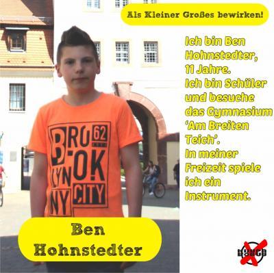 Foto zur Meldung: Unsere Kandidatinnen und Kandidaten - Hohnstedter, Ben