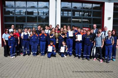 Foto zu Meldung: Gemeindejugendfeuerwehrwettkampf am Feuerwehrhaus Biebergemünd-Nord