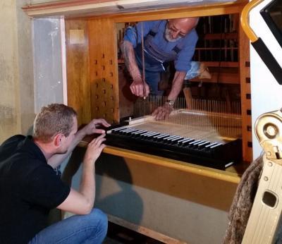 Foto zur Meldung: Tag der offenen Orgelbaustelle in Niemegk