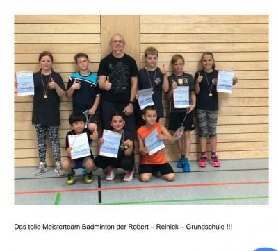 Vorschaubild zur Meldung: Schul - Wettkampf Badminton