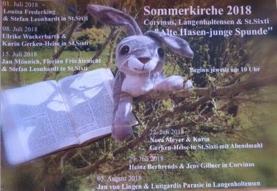 Vorschaubild zur Meldung: Letzter Sommerkirchen-Gottesdienst am 5. August in Langenholtensen