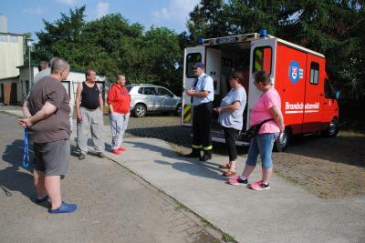 Vorschaubild zur Meldung: Brandschutzbelehrung in der AWO Obdachlosenunterkunft in Groß Pankow