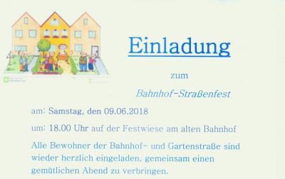 Vorschaubild zur Meldung: Bahnhofstraßen-Fest 2018