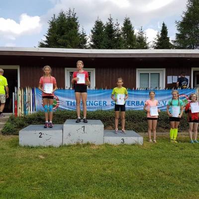 Foto zur Meldung: Thüringer Langlauf Cup und Rangliste Biathlon Hindernis Cross in Steinheid