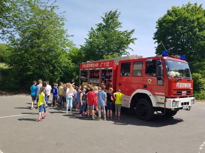 Vorschaubild zur Meldung: Besuch der Feuerwehr