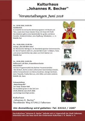 Foto zur Meldung: Veranstaltungen Juni