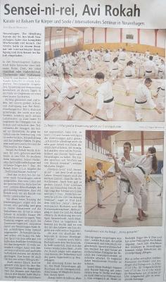 Foto zu Meldung: Karate: Internationales Seminar