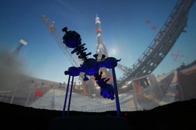 Raketenstart im Planetarium