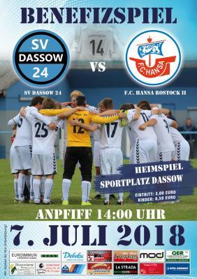 Hansa Rostock bei SV Dassow in einem Benefizspiel