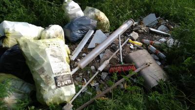"""Müllablagerung im Gewann """"Erdfall"""""""