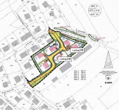 """Übersicht über verfügbare Bauplätze """"Am Hennensteig II"""""""