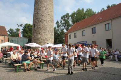 Foto zur Meldung: 60 Jahre Blasorchester Ziesar/Burgfest/1070 Jahre Ziesar
