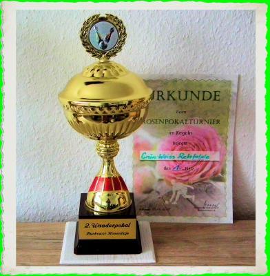 Foto zur Meldung: Rehfelder Kegler gewinnen Rosenpokal in Buckow