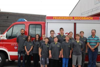Foto zur Meldung: Die Feuerwehrjugend erhielt neue T-Shirt
