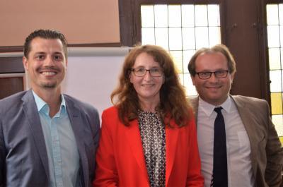 Christian Elke, Daniela Zießnitz und Manuel Meger am Montag während der Stadtverordnetenversammlung (v. l.)