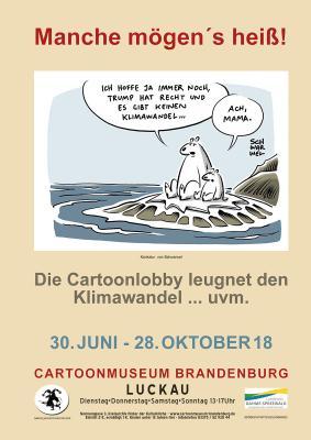 Plakat zur Ausstellung - Motiv von Schwarwel