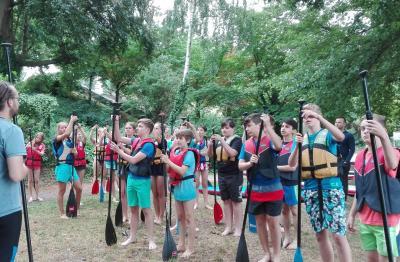 Vorschaubild zur Meldung: Stand-up-Paddeln am Griebnitzsee