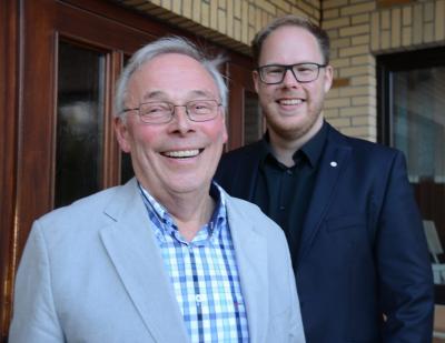 Bürgermeister Hans-heinrich Franke mit dem 1. stellv. Bürgermeister Daniel Johnsen