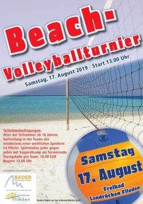 Foto zur Meldung: Beach-Volleyballturnier im Freibad Flieden am 17. August 2019