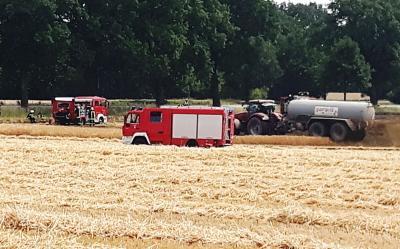 Foto zur Meldung: Brandgeruch und Gülle-Gestank – aber Feuer aus beim Flächenbrand in Kalübbe