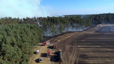 Foto zur Meldung: Gross Laasch - Löscharbeiten aus der Luft