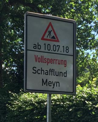 Foto zur Meldung: Kreisstrasse gesperrt