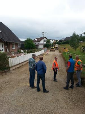 Foto zur Meldung: Straßenbau in der Gillwiese - 2. Ausbauphase läuft an