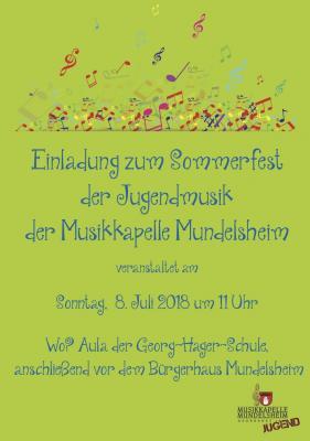 Vorschaubild zur Meldung: Sommerfest der Jugendmusik 2018