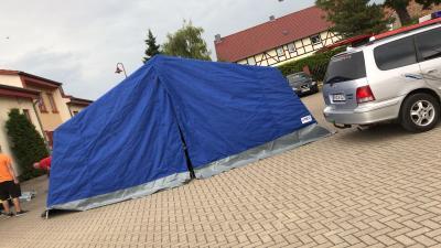 Foto zu Meldung: Zeltlager wird vorbereitet