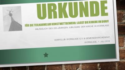 """Vorschaubild zur Meldung: Gewinner Kunstwettbewerb """"Lasst die Kirche im Dorf!"""""""