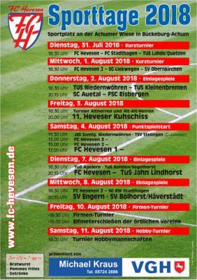 Foto zur Meldung: Sporttage 2018 des FC Hevesen