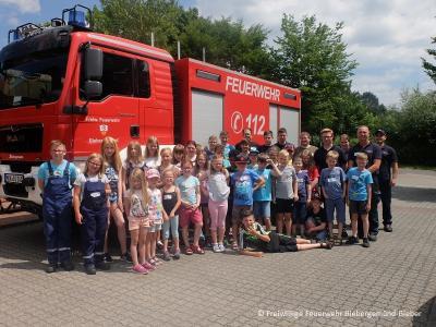 Foto zur Meldung: Ferienspiele bei der Feuerwehr Bieber