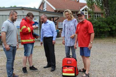 Foto zur Meldung: Spenden für DLRG Waldeck/Schafflund