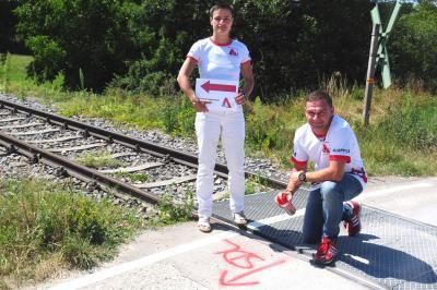 Foto zur Meldung: 10. Städtedreieckslauf – Laufstrecken wurden zum Trainieren markiert!