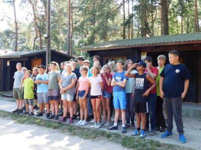 Vorschaubild zur Meldung: Ein weiterer aktiver Tag im Ferienlager in Polen