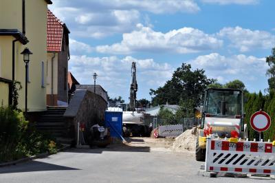 Foto zur Meldung: Bauarbeiten Hafenstraße