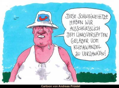 Aktueller Cartoon von Andreas Prüstel