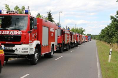 Brand im Reifenlager Senftenberg – Dank an alle Rettungskräfte und Helfer. (Archivfoto: Landkreis OSL)