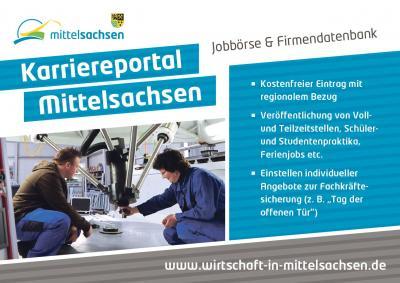 Vorschaubild zur Meldung: Karriereportal Mittelsachsen