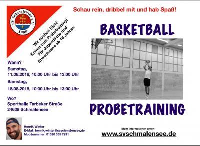 Foto zu Meldung: Neu im SV Schmalensee: Basketball!