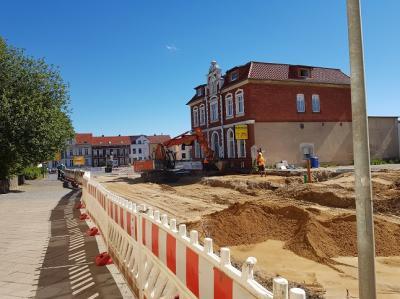 Arbeiten auf einer Baustelle in Teterow (Foto: S. Ebeling)