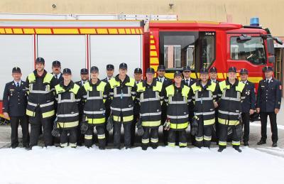Vorschaubild zur Meldung: Neue Maschinisten für die Rosenheimer Feuerwehren - Ausbildung mit erfolgreicher Prüfung beendet