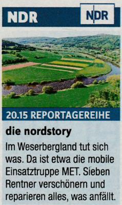 Foto zur Meldung: Bühren und seine Mobile Einsatztruppe im NDR-Fernsehen
