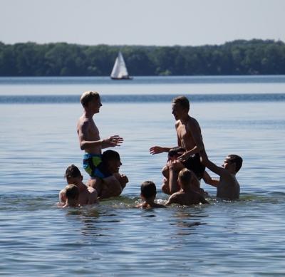 Vorschaubild zur Meldung: Ostsee-Freizeitlager Tagebuch Montag